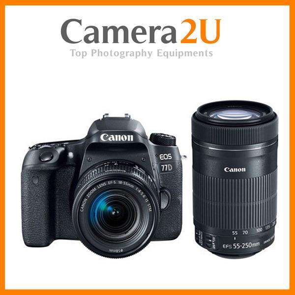 Canon EOS 77D With 18-55mm + 55-250mm Twin Lens
