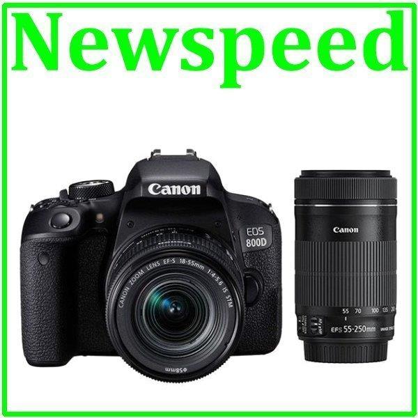 Canon EOS 800D 18-55mm + 55-250mm Twin STM Lens DSLR+32GB+Bag (Import)