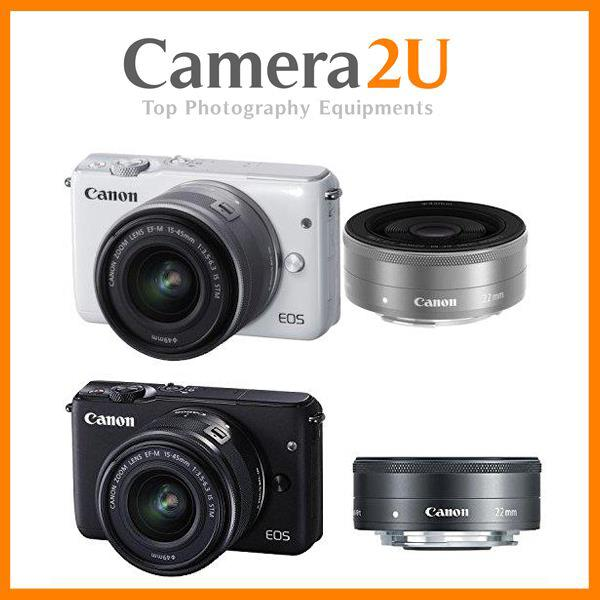 Canon EOS M10 15-45mm + 22mm F2 +16GB+Bag (MSIA) Free Battery