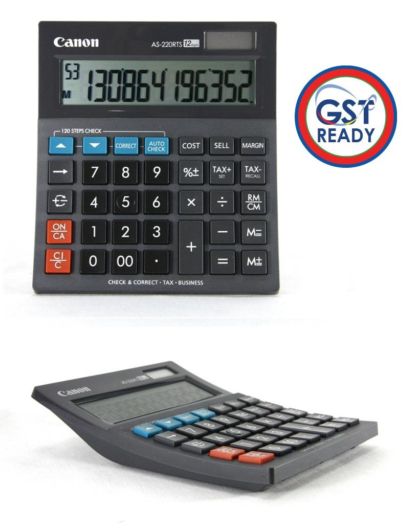 Canon GST Tax Calculator 12-Digit Stylish ARC Design