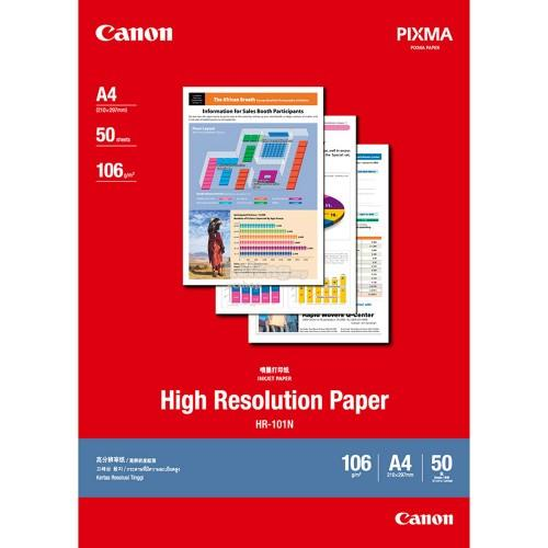 Canon HR-101 A4 High Resolution Paper (50 shts)