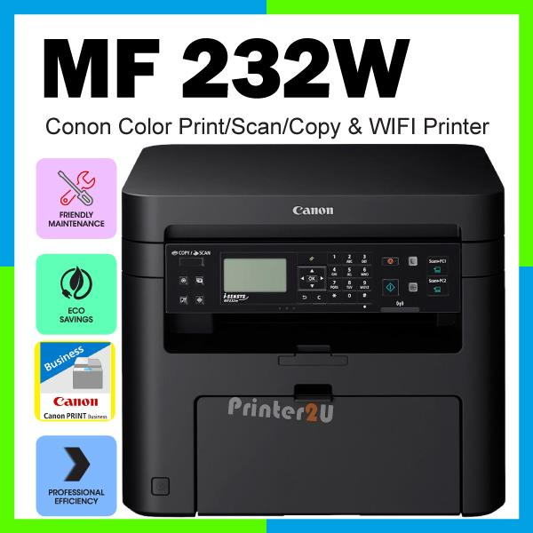Canon Laser Multi Function A4 Printer MF232w Print Scan Copy WiFi AIO