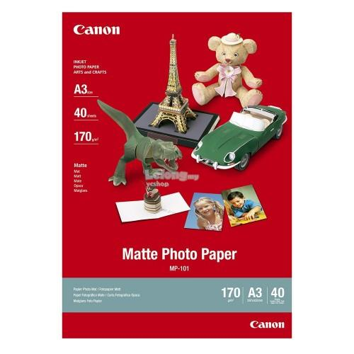 Canon Matte Photo Paper A3 40 Sheets (MP-101 A3)