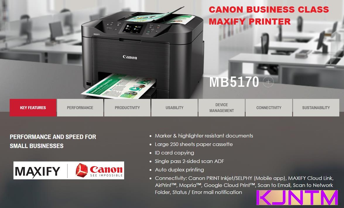 CANON MAXIFY MB5170 ALL IN ONE BUSINE (end 8/1/2018 4:15 PM)