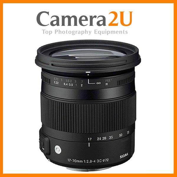 New Canon Mount Sigma 17-70mm F2.8-4 DC Macro OS HSM Contemporary Lens