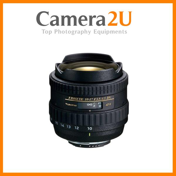 Canon Mount Tokina AT-X 107 AF 10-17mm F3.5-4.5 DX Fisheye Lens
