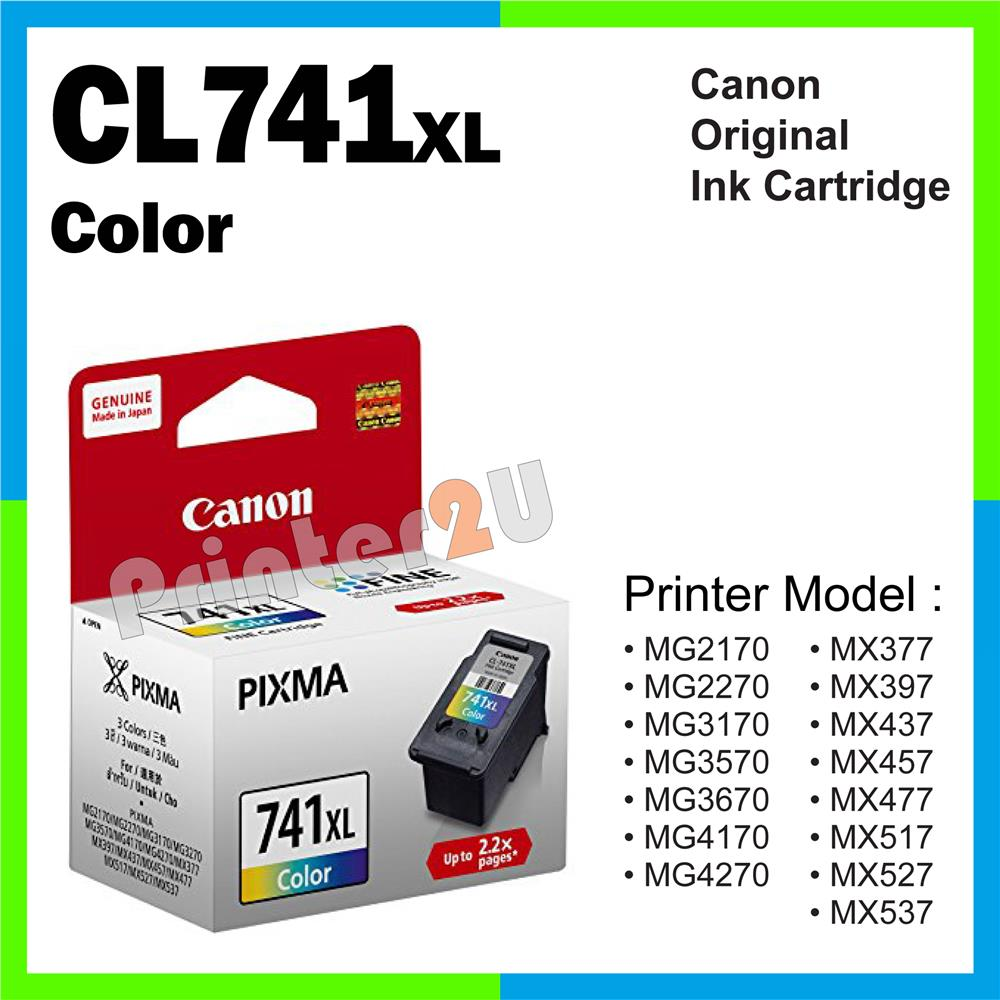 Canon Original Cartridge CL741XL CL741 XL Color Ink MG 2270 3170 3570