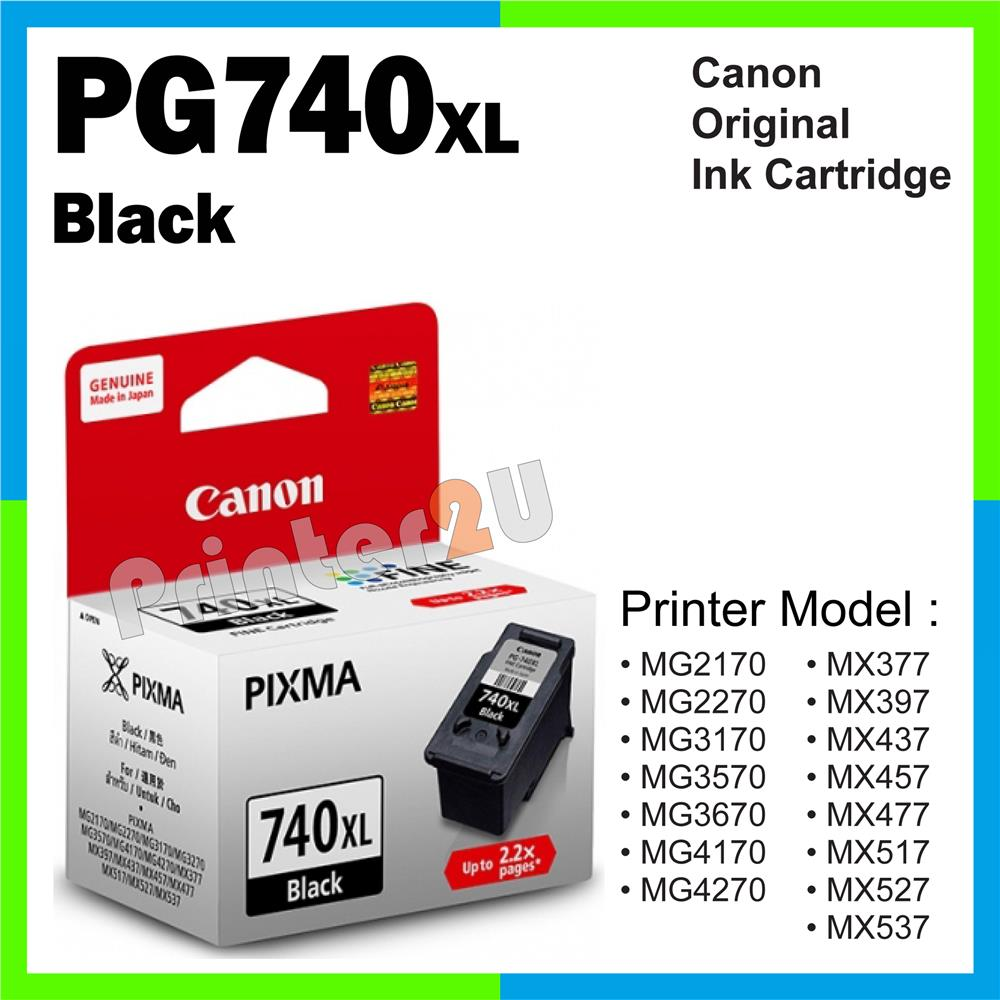 Canon Original Cartridge PG740XL 740 Black Ink MG 2170 3670 4170 4270