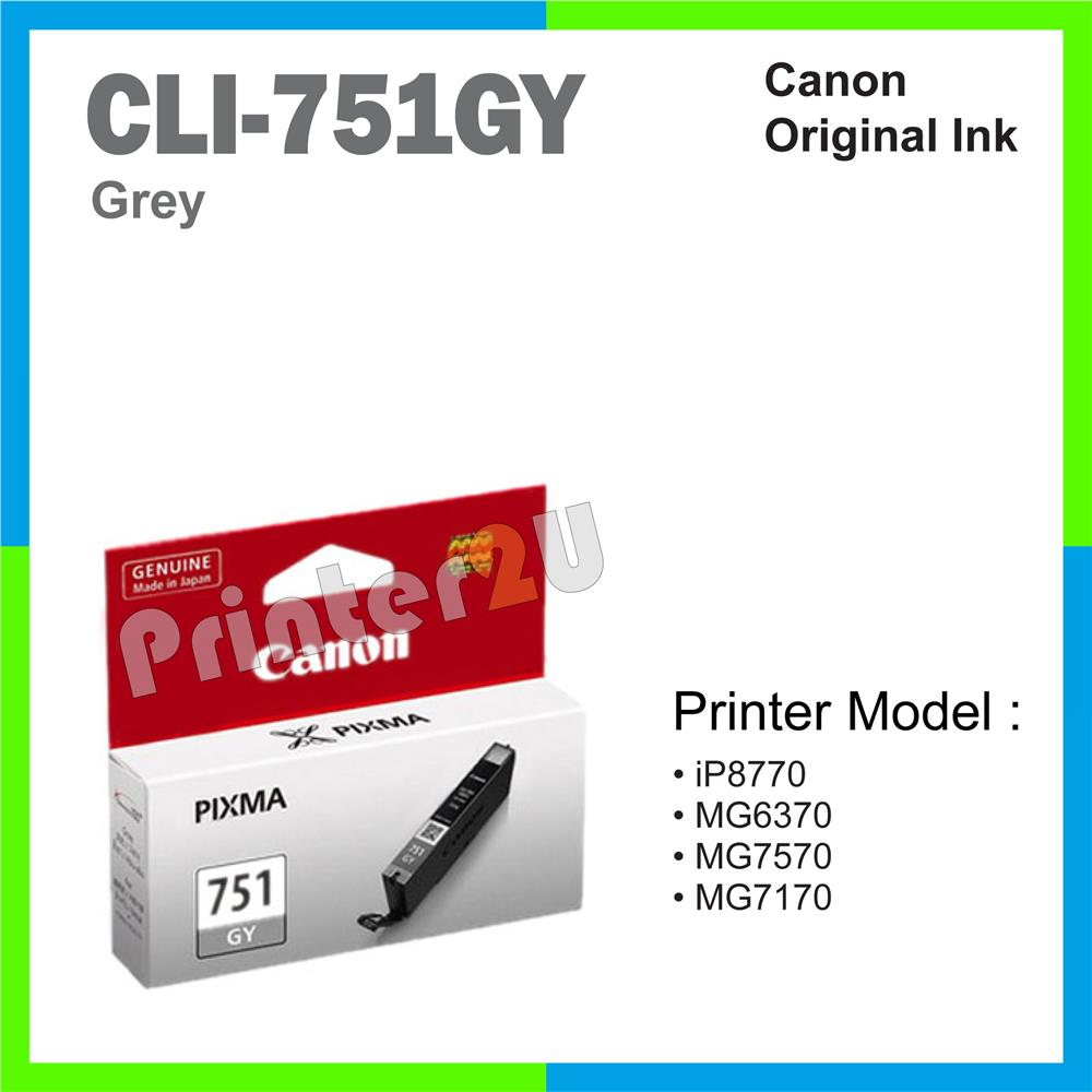 Canon Original Inkjet Ink Cartridge CLI-751 CLI751 GY MG7570 MG7170