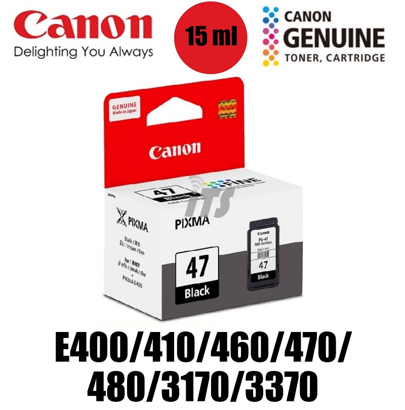 Canon PG-47 Black FINE cartridge (15ml)