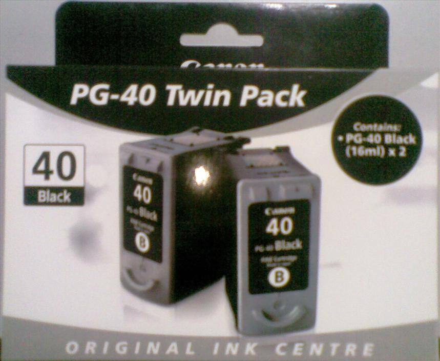 <B>Canon PG40 Black Twin Pack - Original</B>