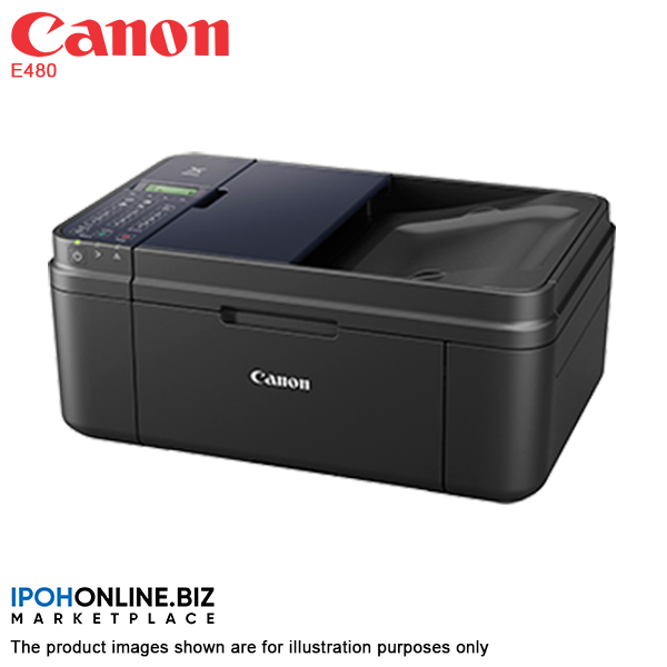 Canon Pixma E480 Wireless All-In-One with Fax Color Inkjet Printer