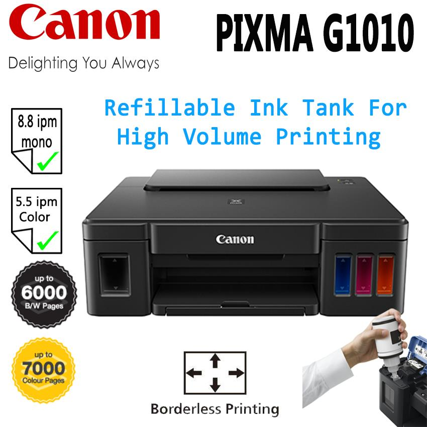 CANON PIXMA G1010 REFILLABLE INK TANK SYSTEM PRINTER WITH HYBRID
