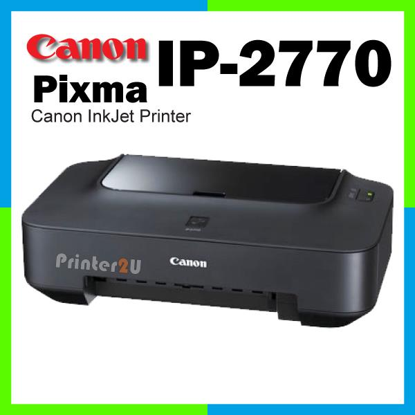 Canon PIXMA Inkjet Singel Function iP2770 Print Ink Color Printer New