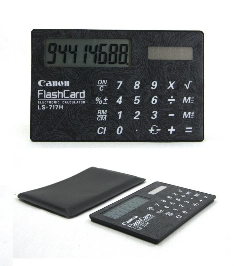 Canon Pocket Calculator 8 Digit Solar Power