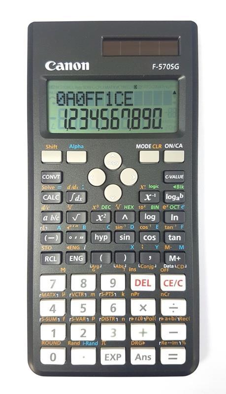 Canon Scientific Calculator F-570SG School Statistic Function