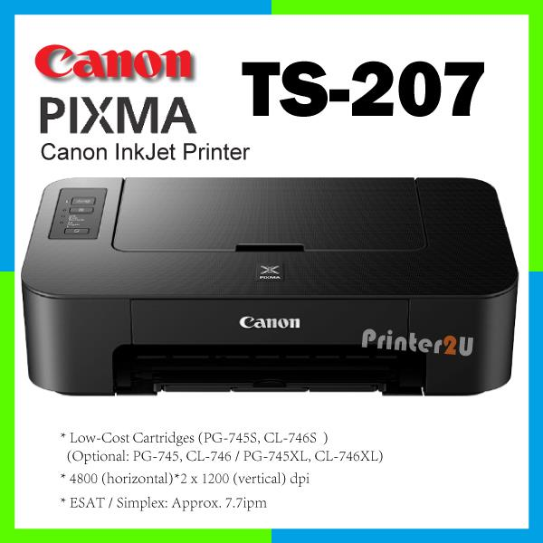 Canon TS207 PIXMA Inkjet TS 207 Single Function A4 Printer