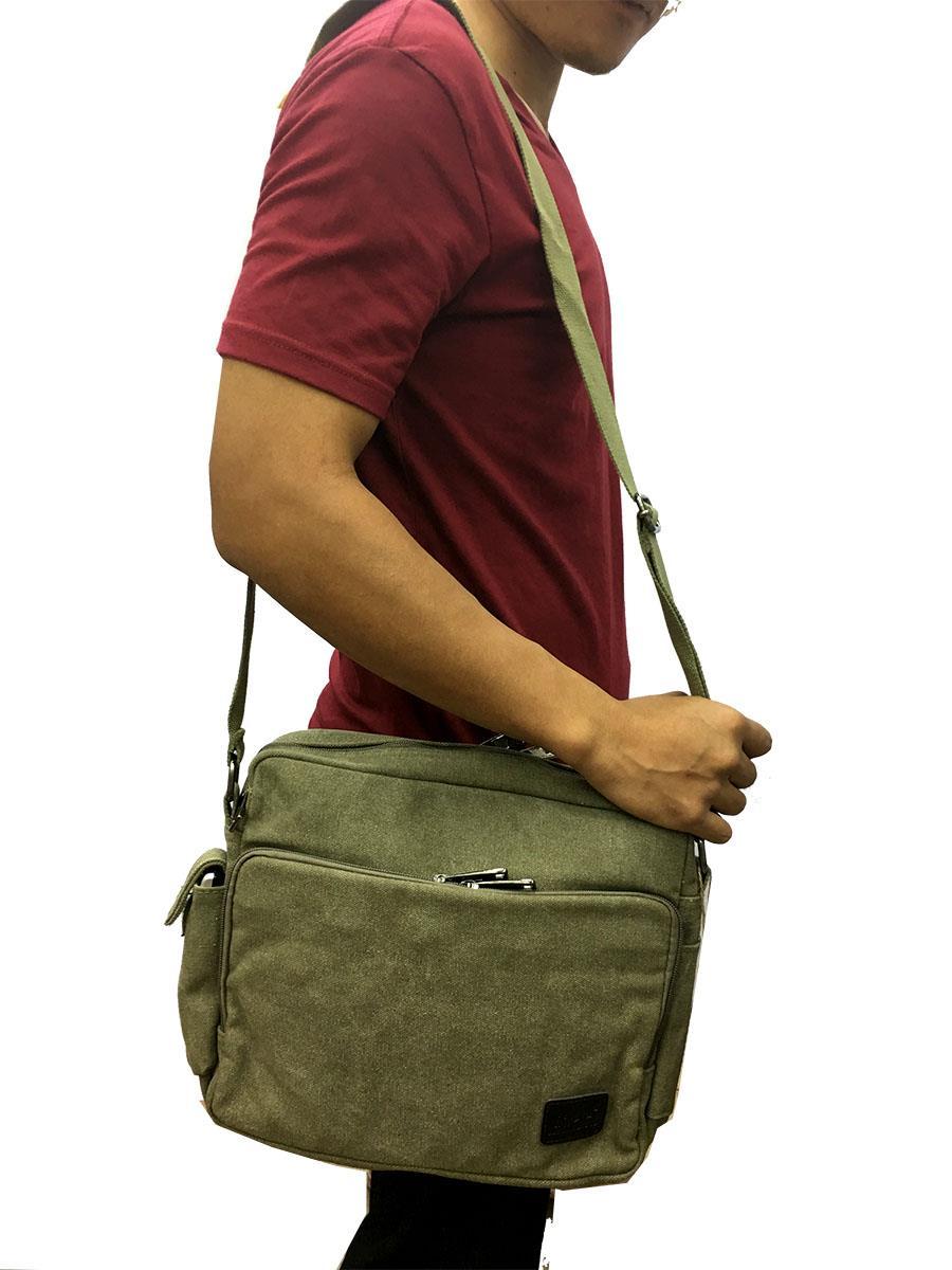 Canvas Messenger Bag   Sling Bag for (end 3 14 2019 1 15 AM) 99198548fb035