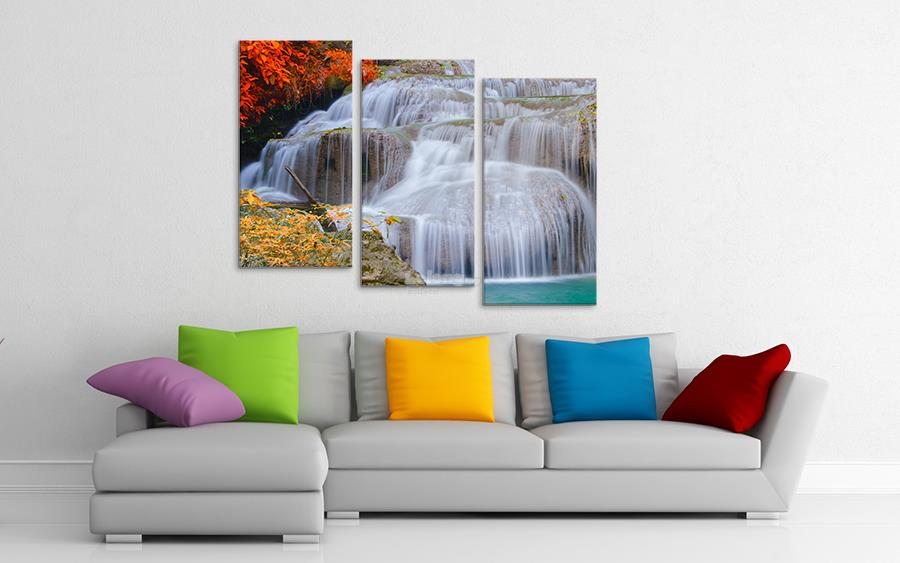Canvas print 3 Panel (With Frame) X0012