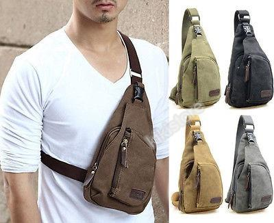 Canvas Shoulder Pouch Crossbody Hiking Travel Bag