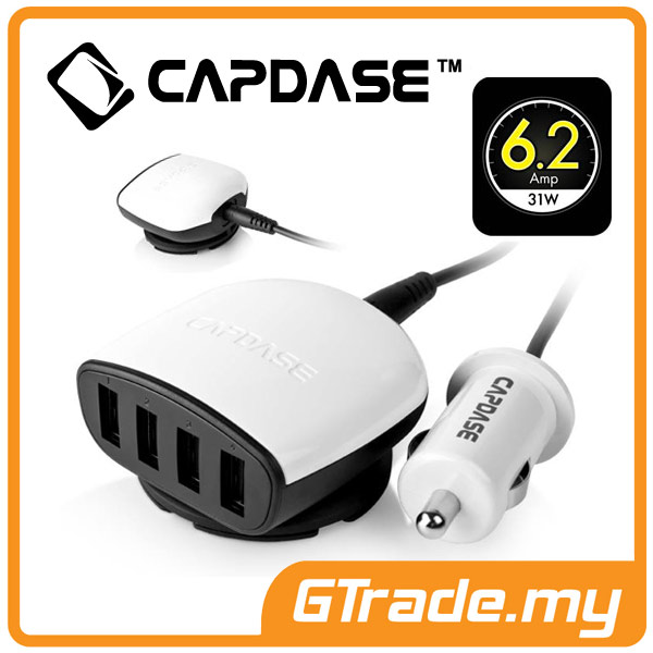 CAPDASE 4 USB Car Charger 6.2A OnePlus One Plus One 2 3 X