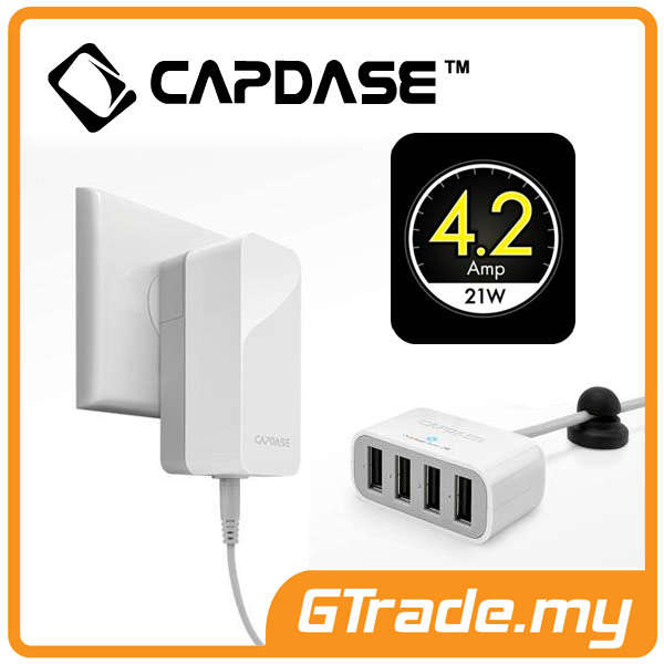 CAPDASE 4 USB Charger 4.2A Fast Charge Apple iPhone 6S 6 Plus