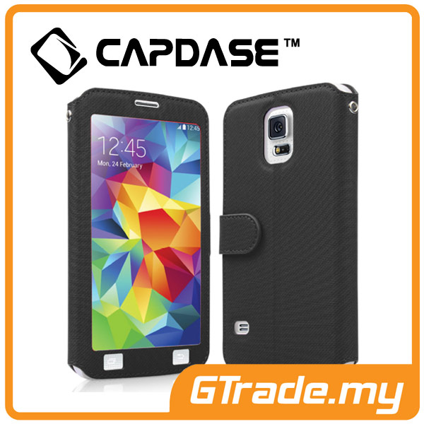 CAPDASE Folder Case Sider V-Baco Samsung Galaxy S5 Black