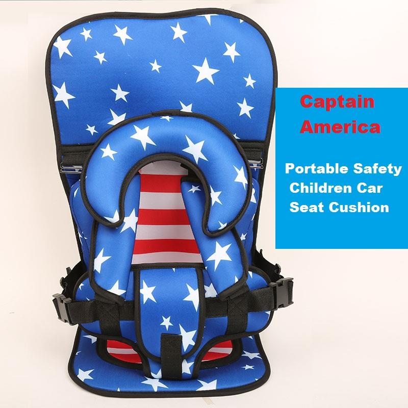 Captain America Portable Children Kids Safety Car Seat Cushion Chair