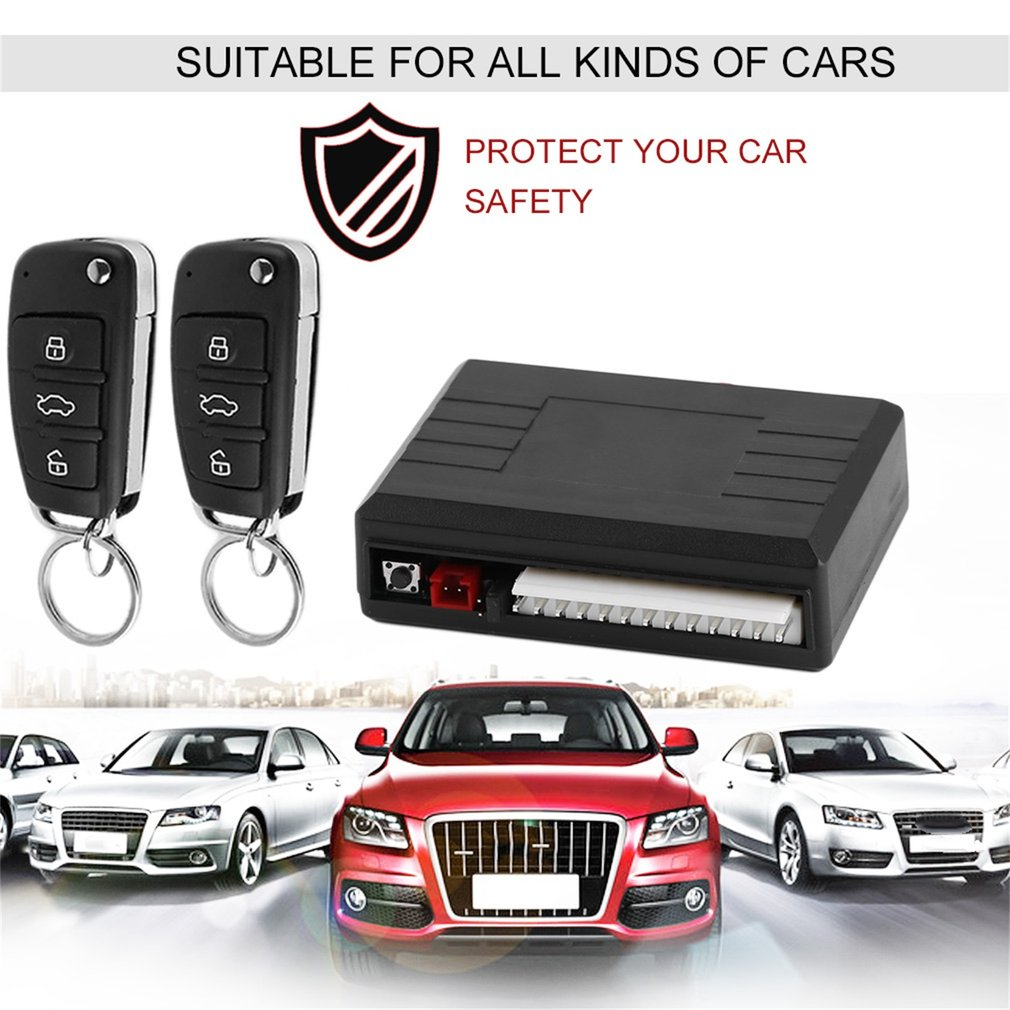 Car Alarm System Remote Control Central Door Lock Wireless Entry Syste..