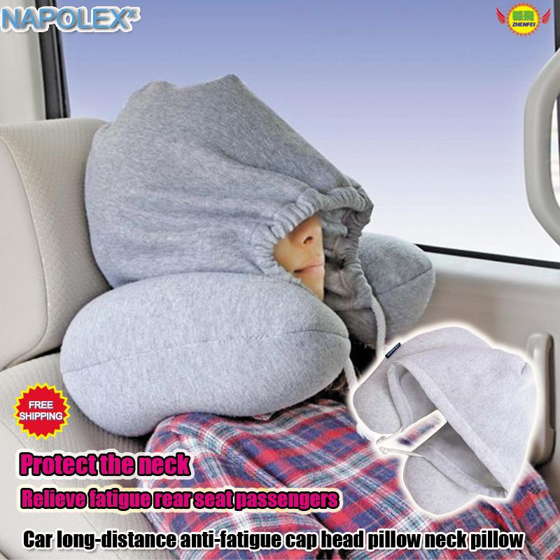 Car anti-fatigue headrest with hat head pillow NAPOLEX SD-7