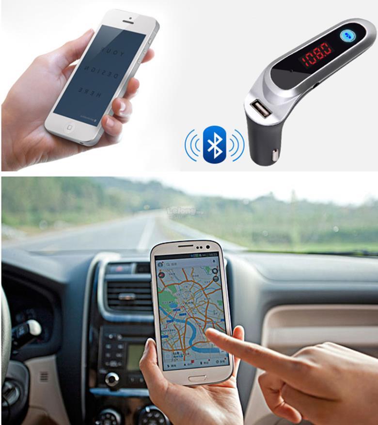 Car Bluetooth FM Transmitter Modulator MP3 & USB Charger