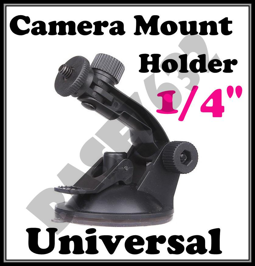 Car  Camera Holder Window Suction Mount Holder 1/4' Screw