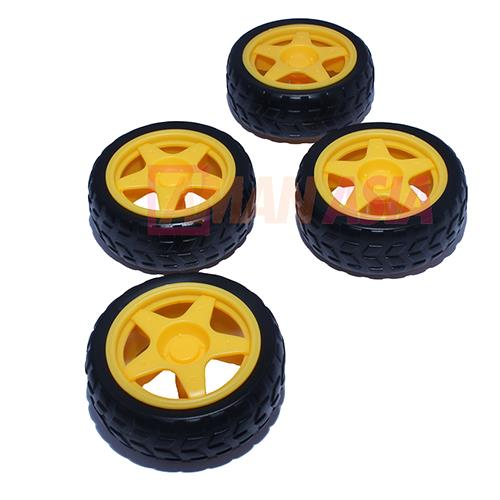 Car Chasis 4WD 4 Wheels For Arduino PIC