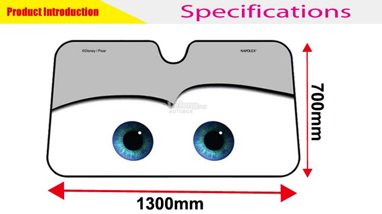 Car Cute Cars gray Cartoon Window Sunshade Cover Sun Shade Protection