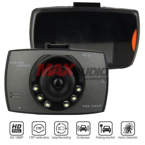 Car Driving Video Recorder Camera DVR 2.7 FULL HD G-Sensor