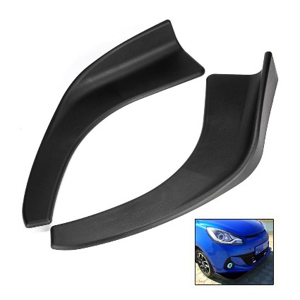 Car Front Deflector Spoiler Splitter Diffuser Bumper Canard Lip Body Shovels
