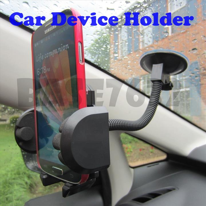 Car Gooseneck Suction Cup Mobile Phone Holder Clip Mount 1303.1