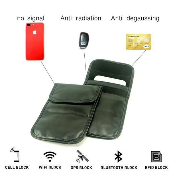 Car Key Signal Blocker Case Faraday Cage Fob Pouch Keyless RFID Blocki