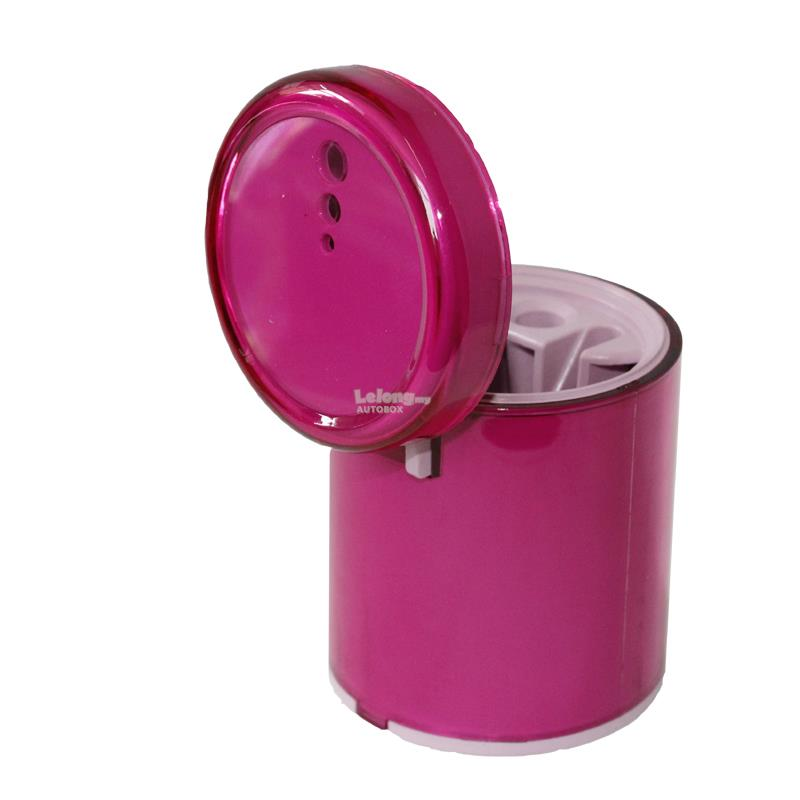 Car lager-caliber Cute pink lady blue luminous ashtray