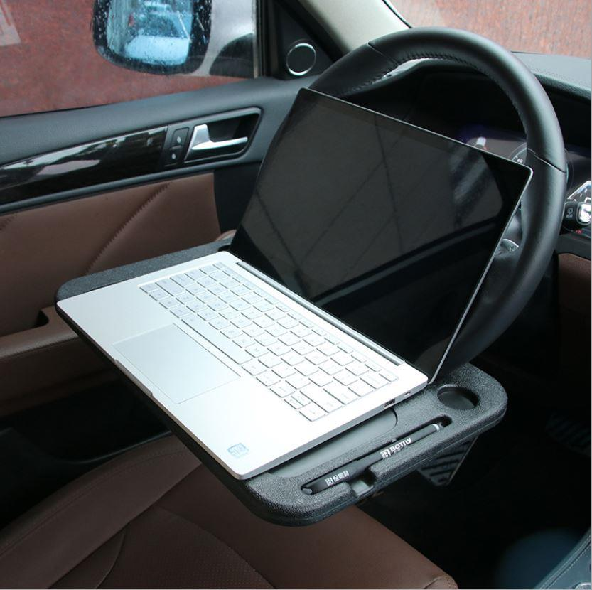 In Car Laptop Stand Notebook Desk Steering Wheel Food Tray Holder