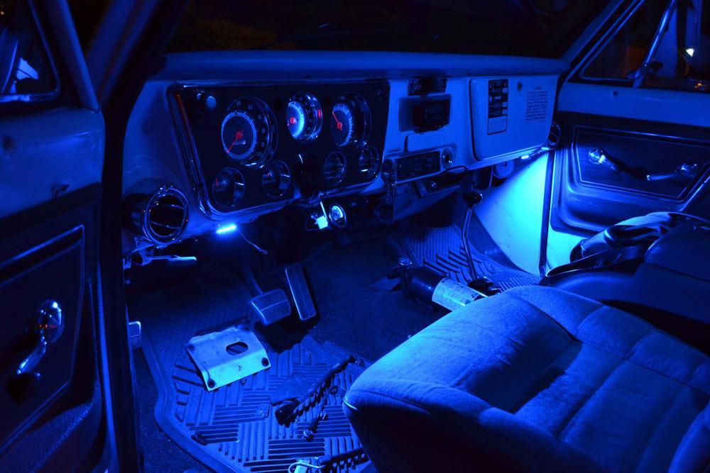 Car led interior decoration under d end 9252019 1215 am car led interior decoration under dash floor led light strip lamp blue aloadofball Images
