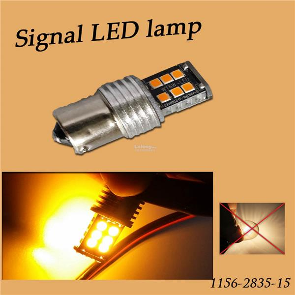 CAR LED SIGNAL LIGHT BULB ORANGE COLOR 1156. U2039 U203a