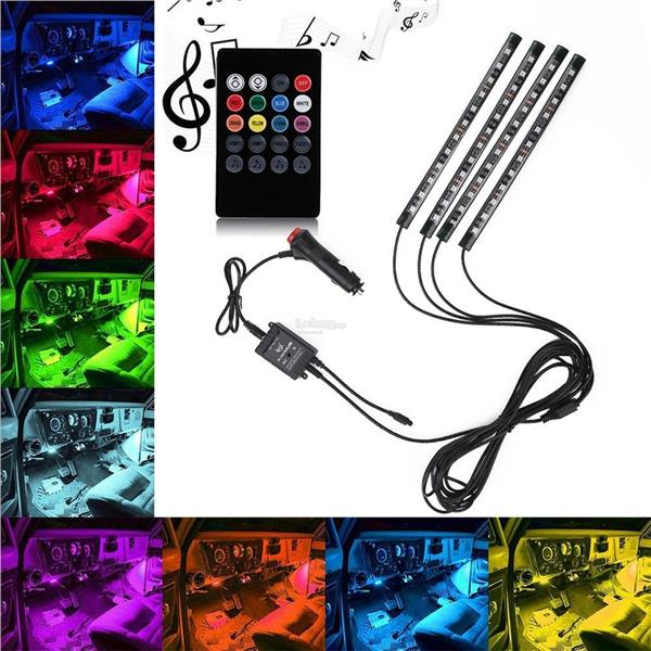 Car led strip light oxoqo 4pcs 48 l end 8152018 915 am car led strip light oxoqo 4pcs 48 led car interior light 8 colors mus mozeypictures Gallery