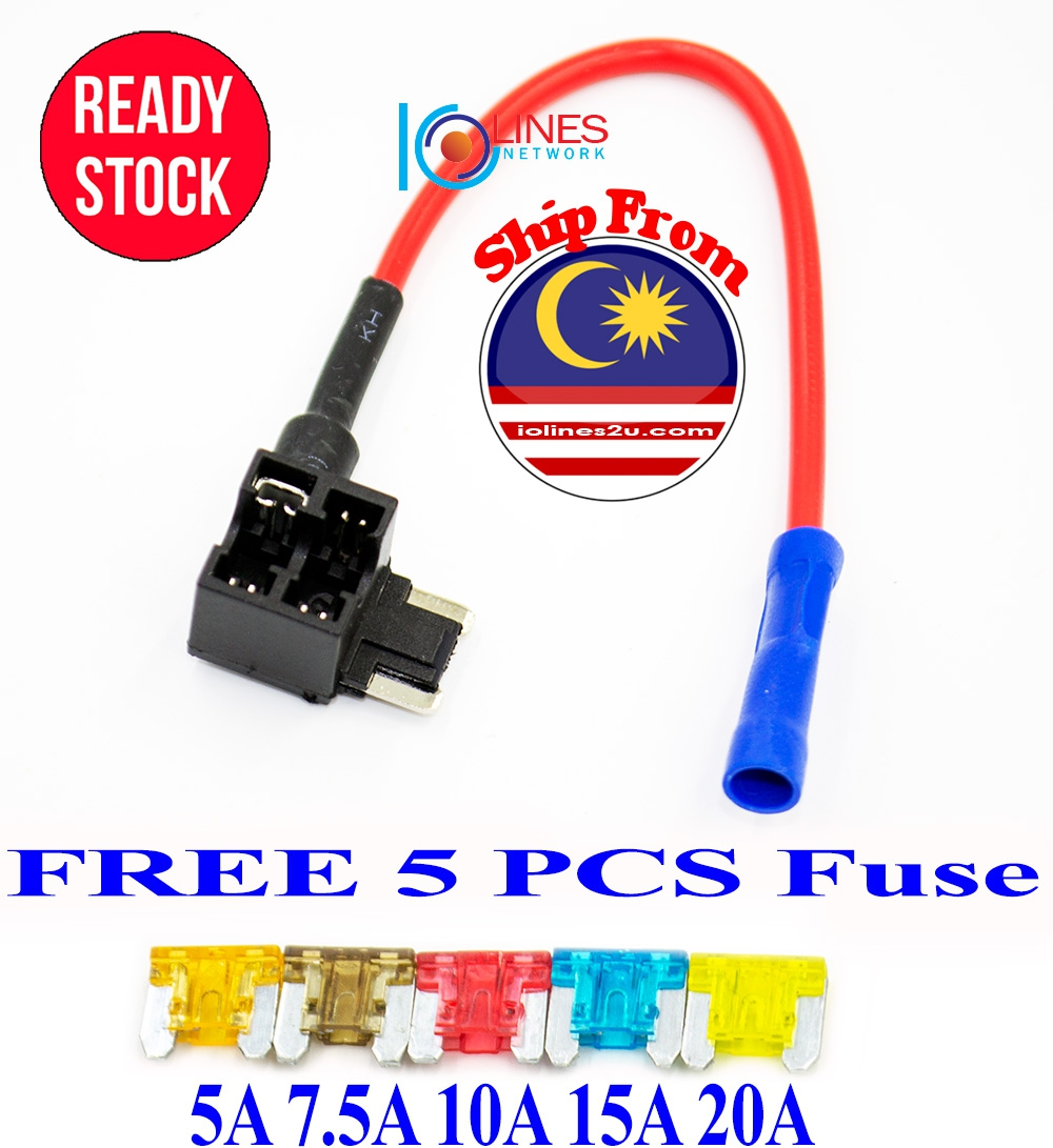 Car Lorry Micro Fuse Tap Holder Quick Joint Cable Kit Free 5 Fuse 5A 10A 15A 2