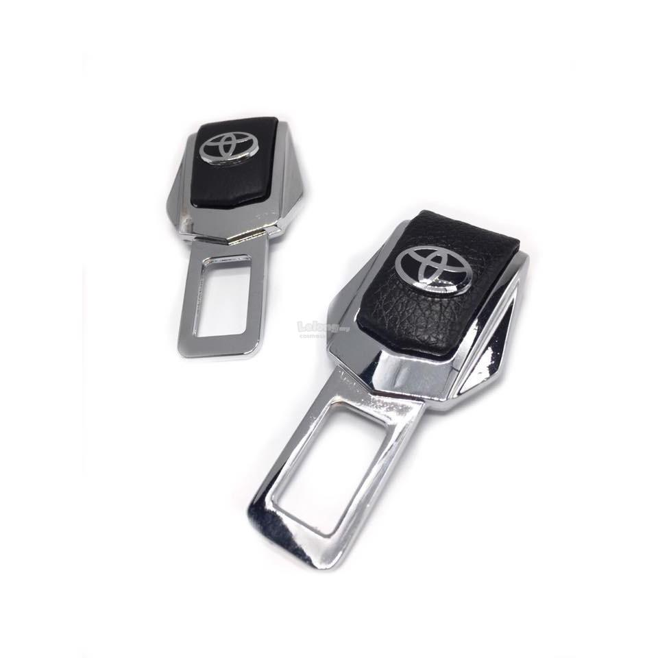 Car Metal Safety Seat Belt Buckle Clip Alarm Stopper With LOGO TOYOTA