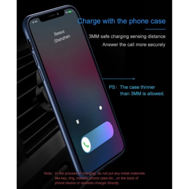 Car Mount Qi Wireless Charger iPhone Samsung Note8 Magnetic Car Phone