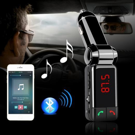 Car MP3 Audio Player Bluetooth FM Transmitter Wireless For Android/Iph