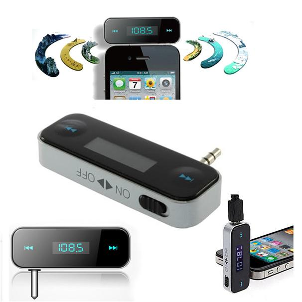Car MP3 Player FM Transmitter for iPhone iPod Mobile Phone Android Han