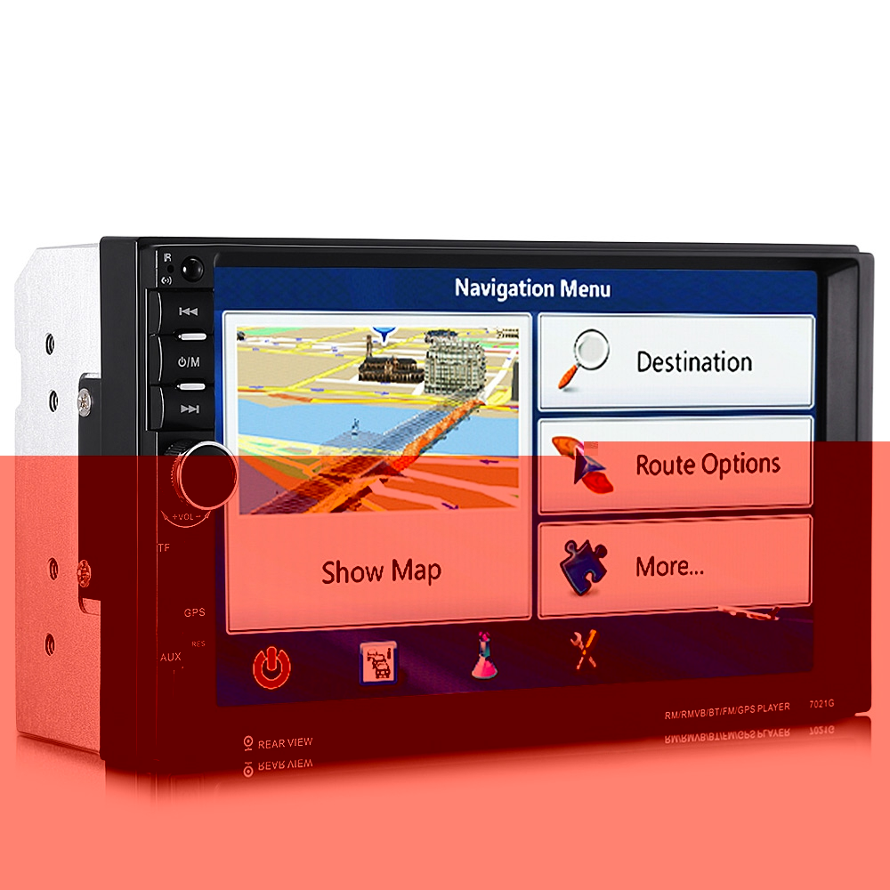 Car Mp5 Players - RECTANGLE 7021g 7 Inch Car Mp5 Player BLUETOOTH Fm R