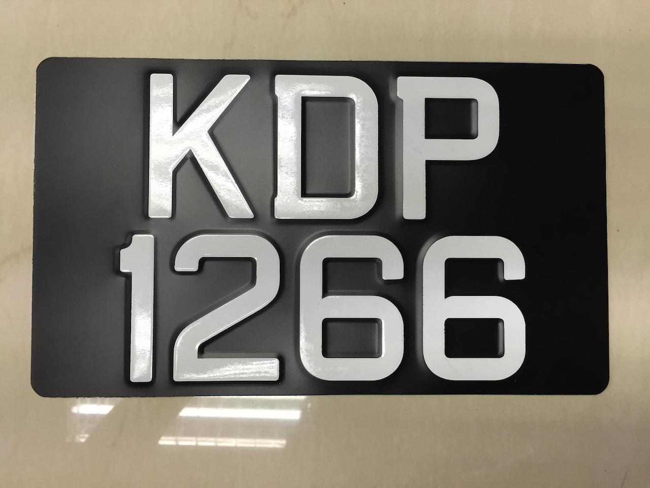 Car Numberplate 3d Aluminium Plate T End 7 21 2017 3 31 Pm